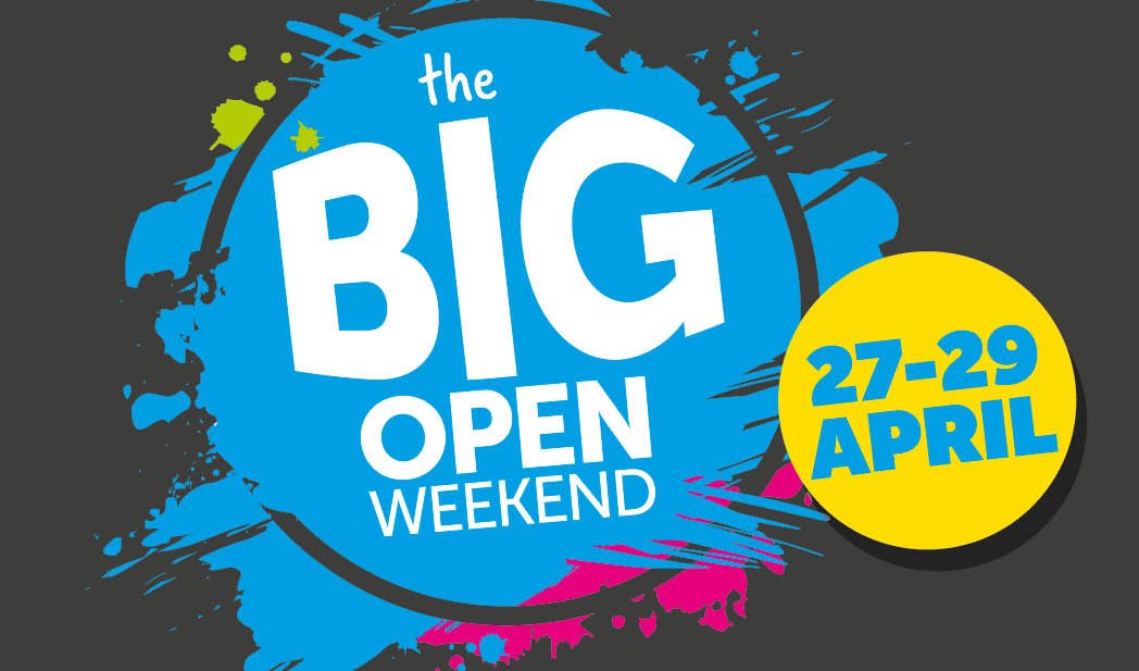 BIG Open Weekend from 27th to 29th April